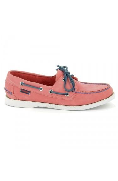 Docksides  Pink/Blue lace Nubuck