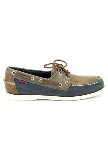 Spinnaker  Brown/Navy/Grey Leather
