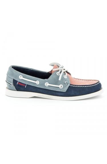 Docksides Pink/Navy blue
