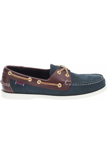 Docksides  Navy/Brown