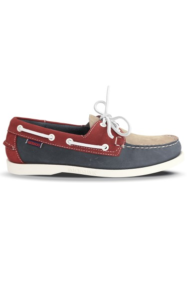 Docksides Spinnaker Portland Nubuck Men  Light Grey/Smoke/Red