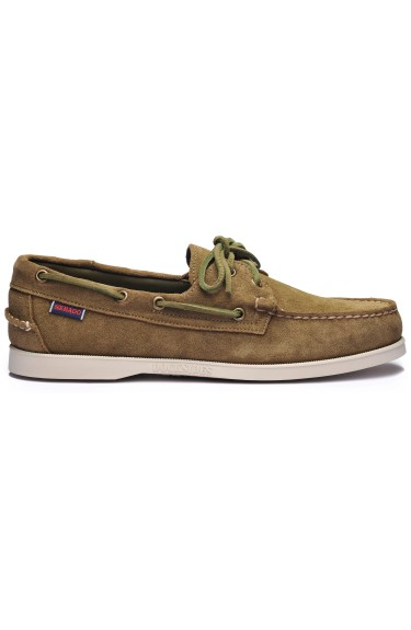 Docksides Portland Suede  Green Military