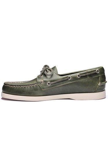 Docksides Portland Waxed  Green Military