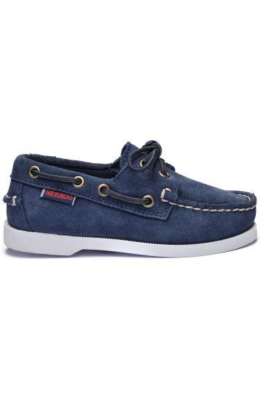 Docksides Portland Suede Kids  Blue/Navy