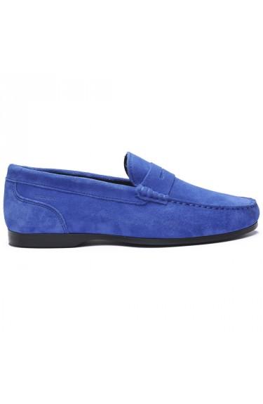BYRON SUEDE  Blue Limoge