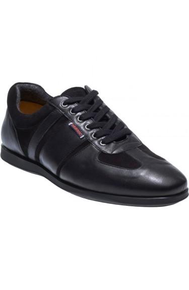 REID LACE UP Leather/Suede  BLACK